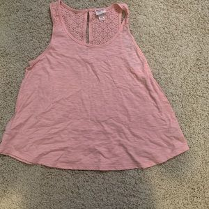Pink Floral Mossimo Tank